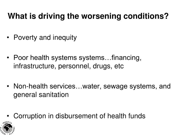 What is driving the worsening conditions?