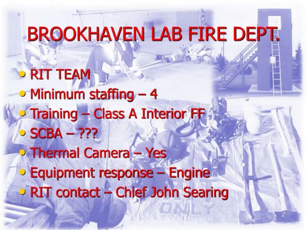 BROOKHAVEN LAB FIRE DEPT.