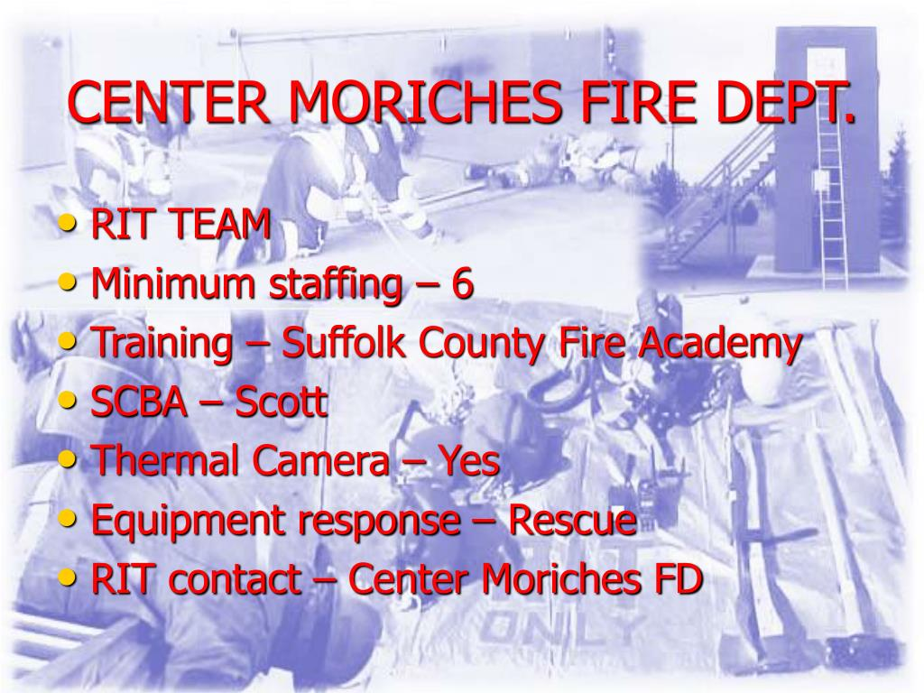 CENTER MORICHES FIRE DEPT.