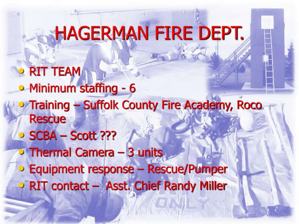 HAGERMAN FIRE DEPT.