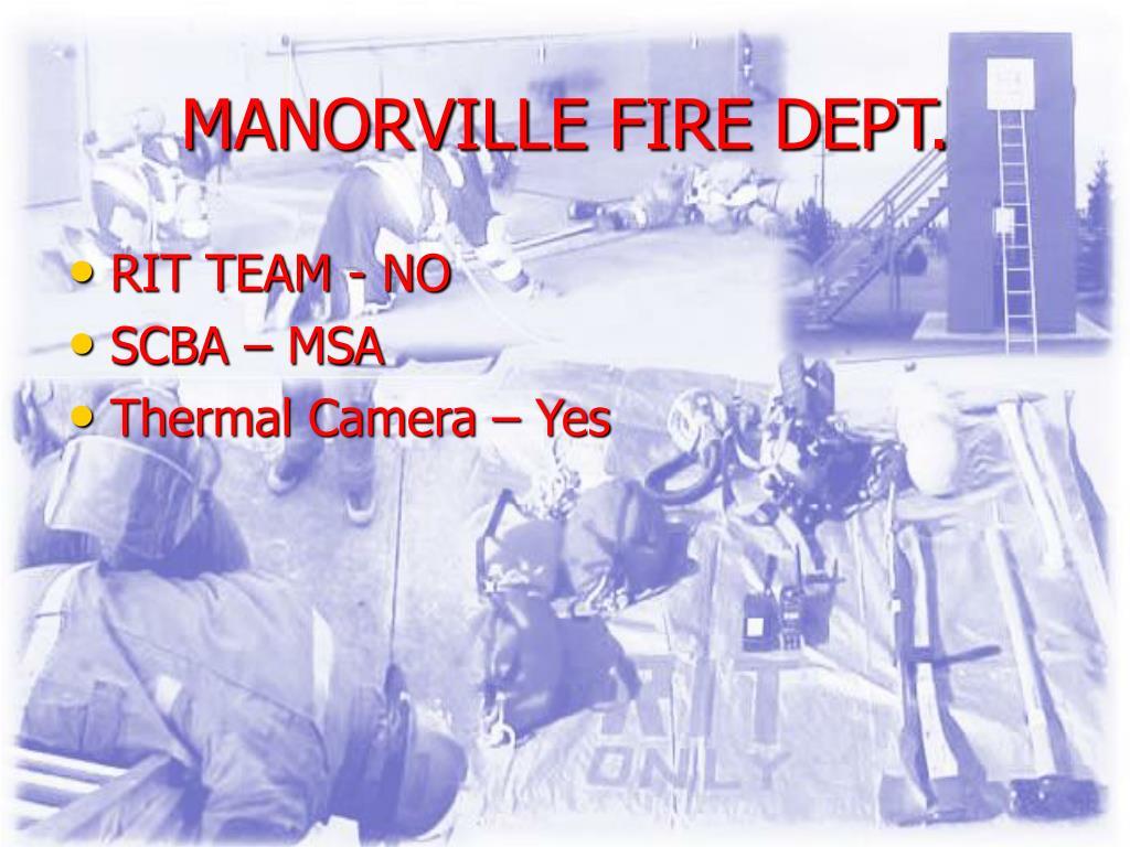 MANORVILLE FIRE DEPT.