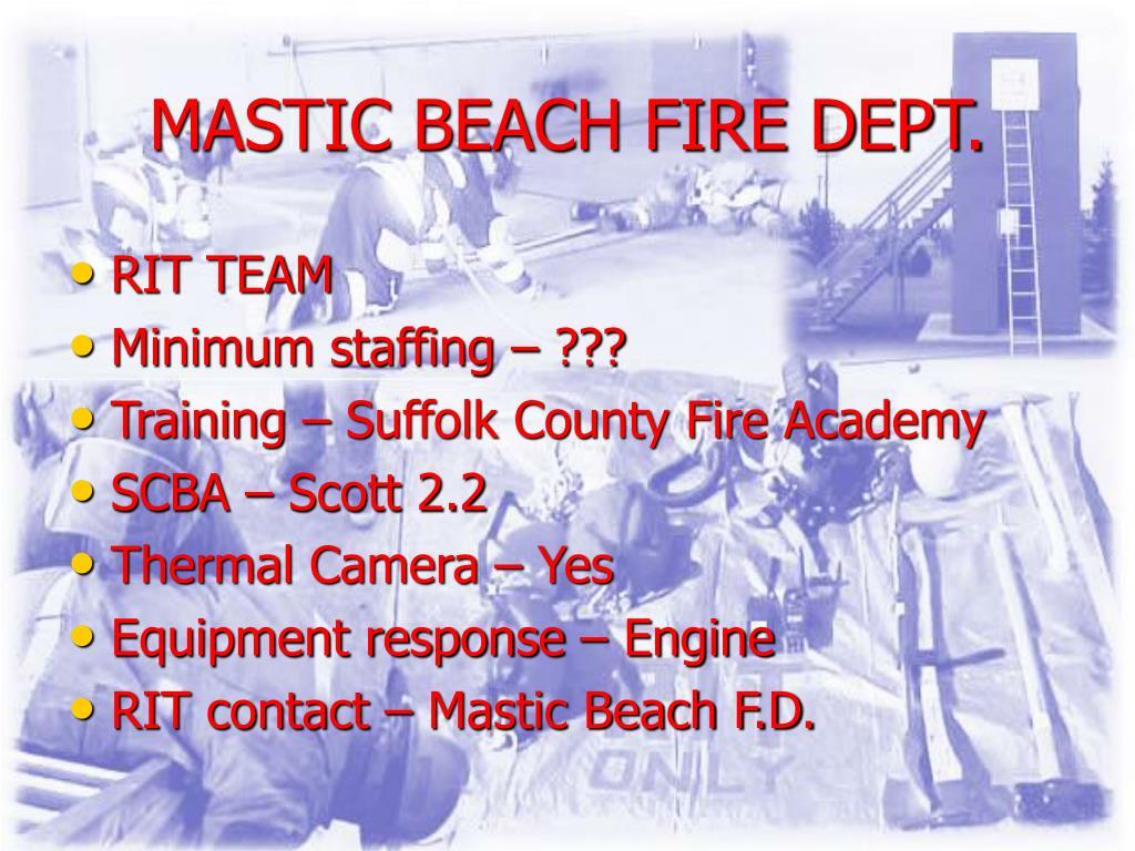 MASTIC BEACH FIRE DEPT.