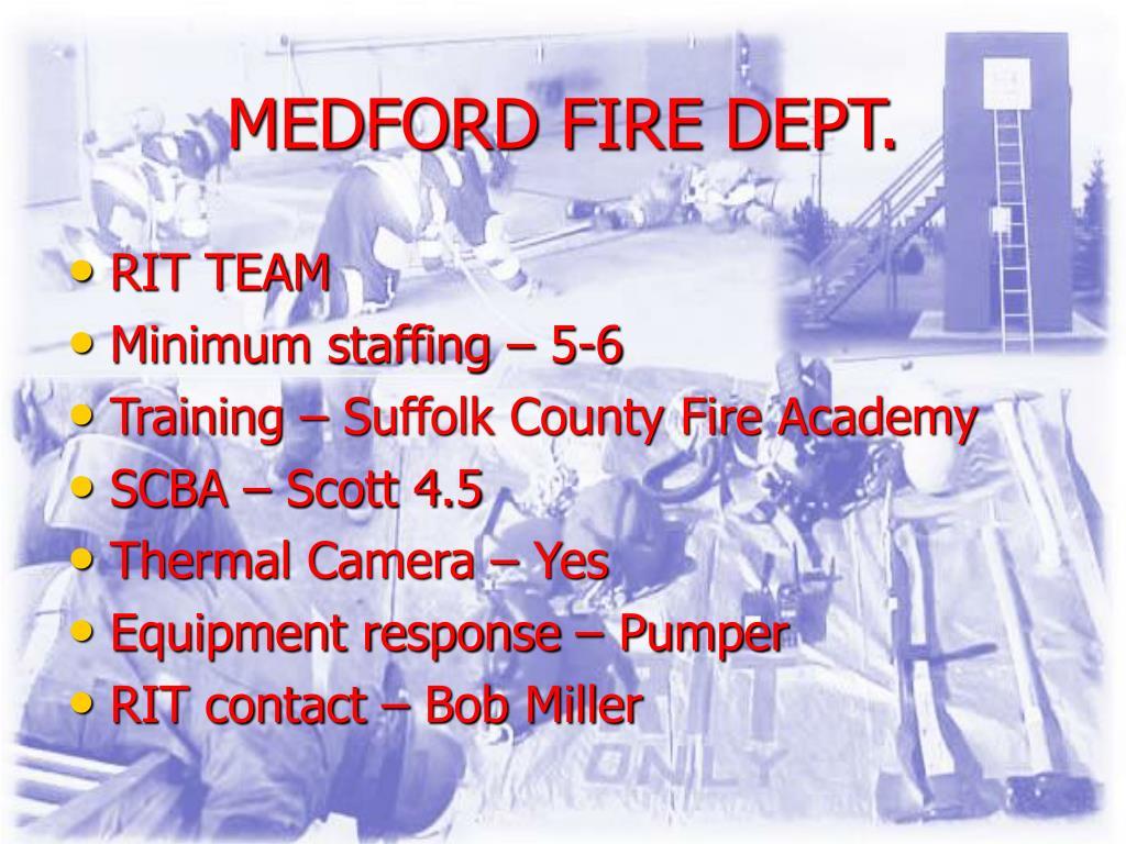 MEDFORD FIRE DEPT.