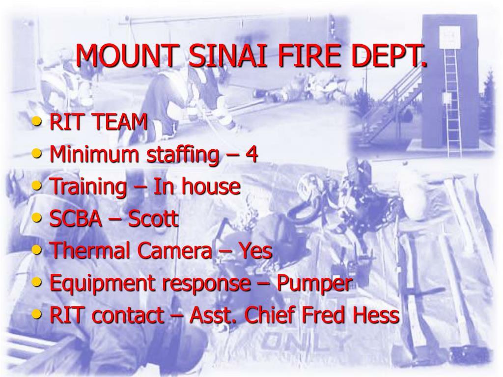 MOUNT SINAI FIRE DEPT.