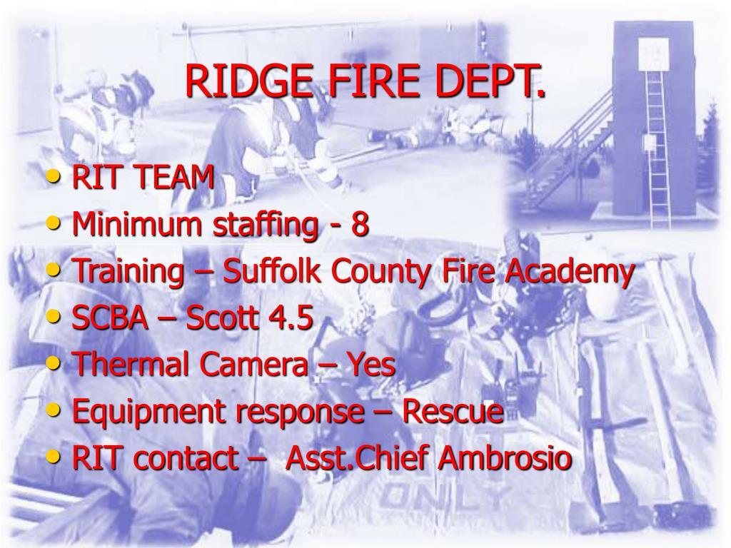 RIDGE FIRE DEPT.