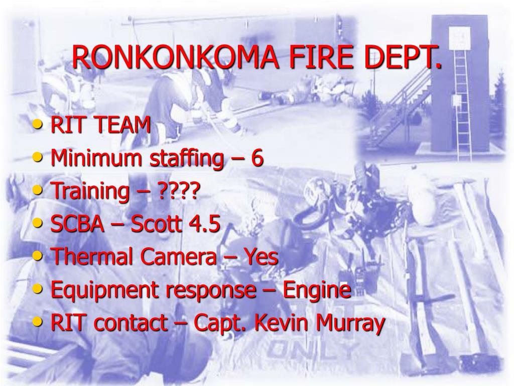 RONKONKOMA FIRE DEPT.