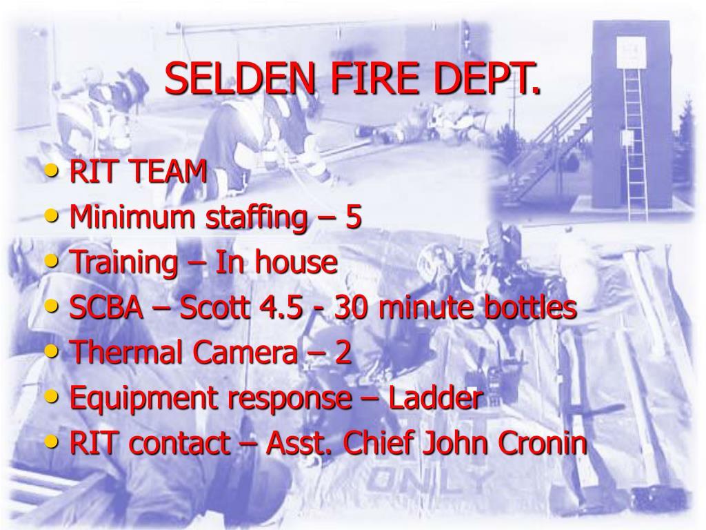 SELDEN FIRE DEPT.