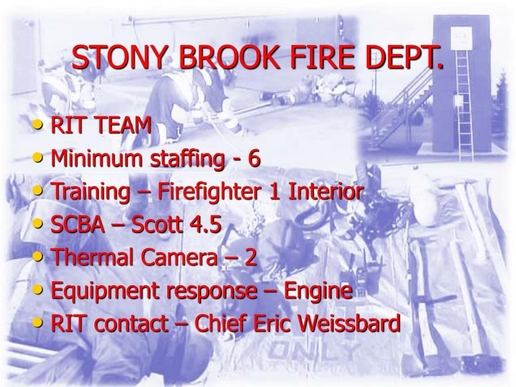 STONY BROOK FIRE DEPT.