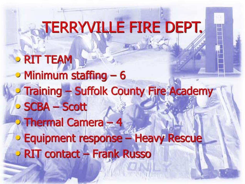 TERRYVILLE FIRE DEPT.