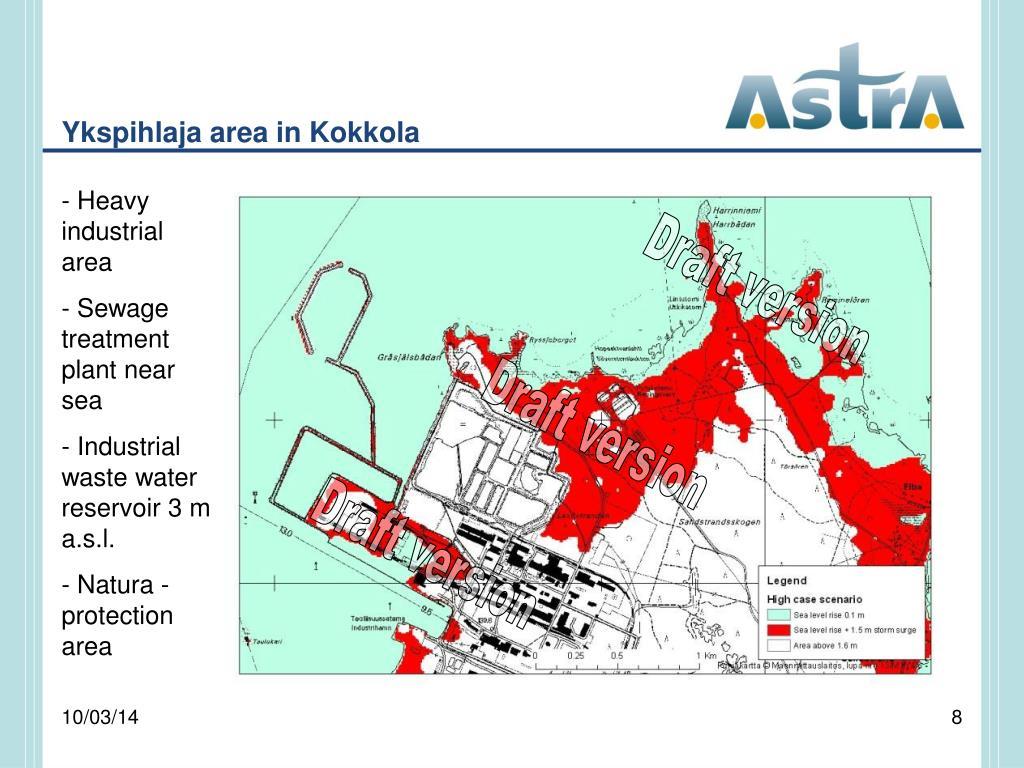 Ykspihlaja area in Kokkola