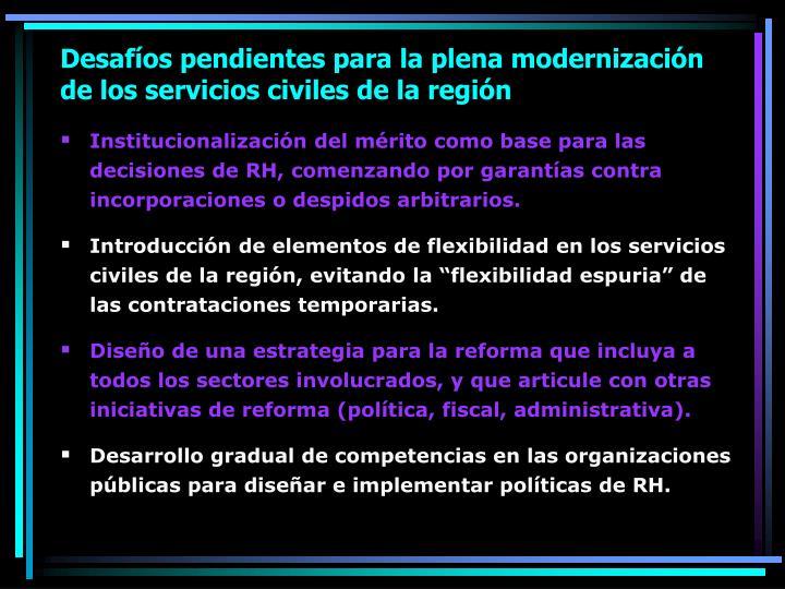 Desafíos pendientes para la plena modernización de los servicios civiles de la región