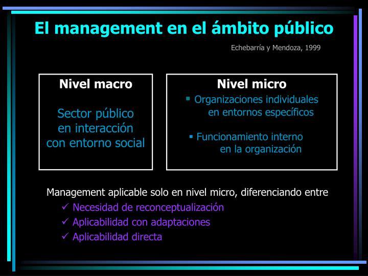 El management en el