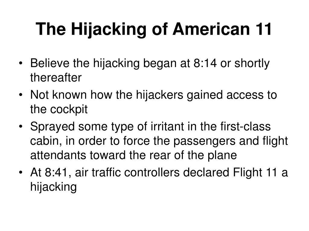 The Hijacking of American 11