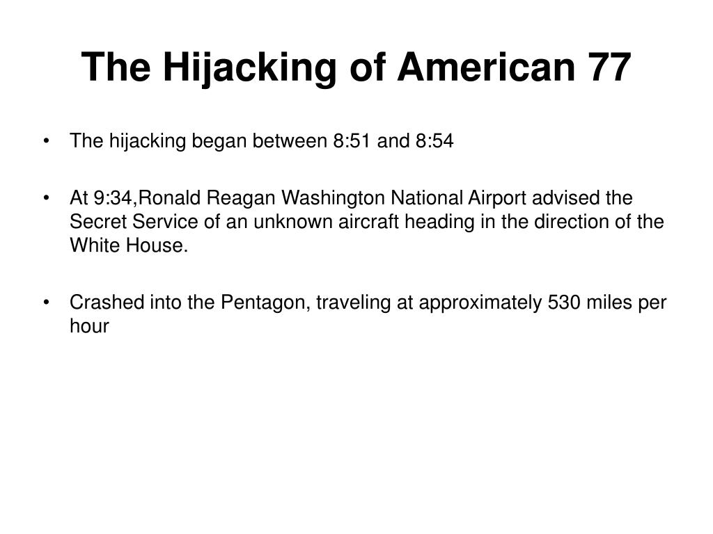 The Hijacking of American 77