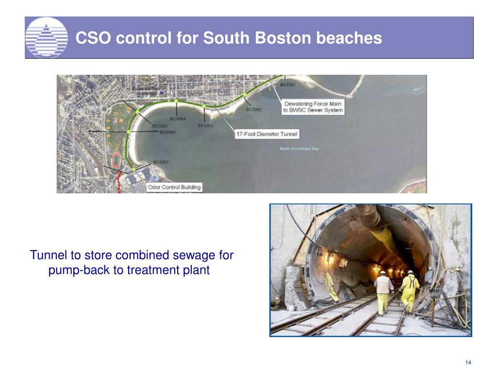 CSO control for South Boston beaches