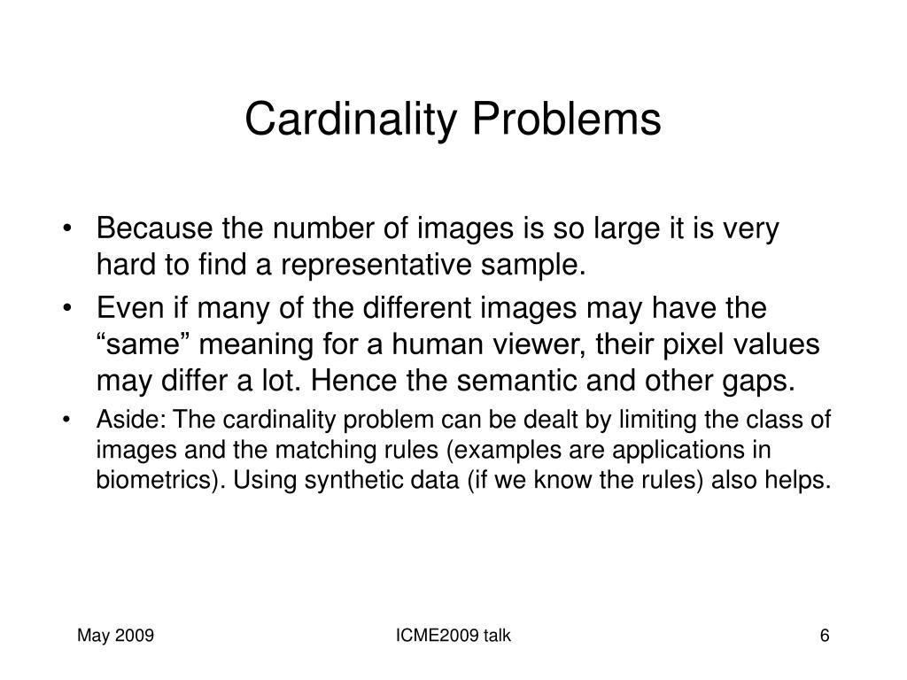 Cardinality Problems