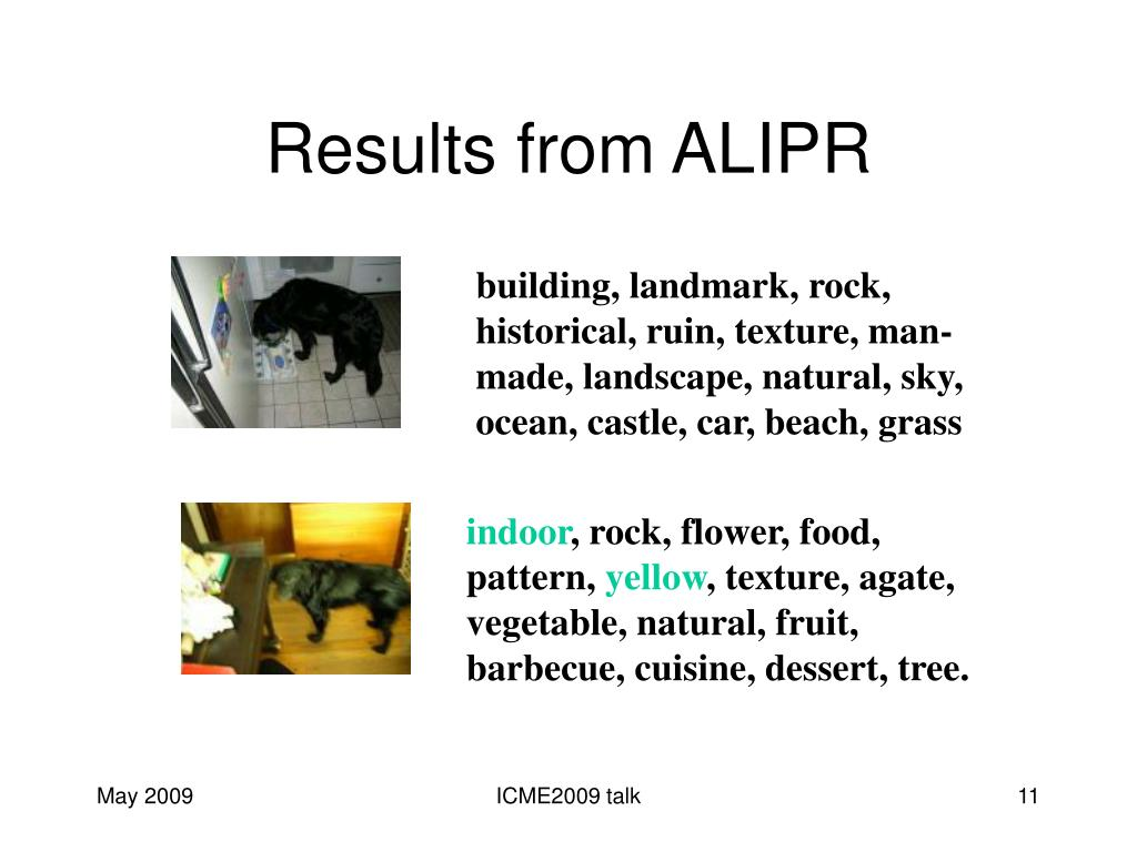 Results from ALIPR