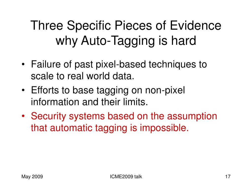 Three Specific Pieces of Evidence why Auto-Tagging is hard
