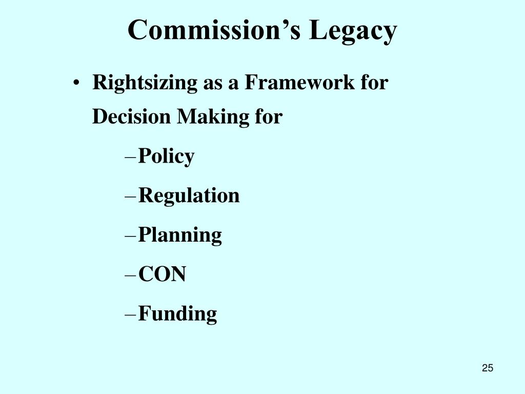 Commission's Legacy