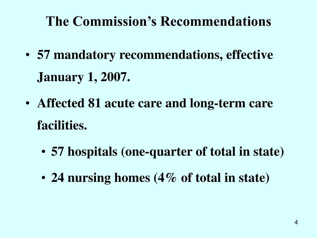 The Commission's Recommendations