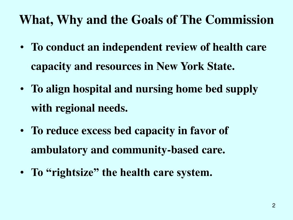 What, Why and the Goals of The Commission
