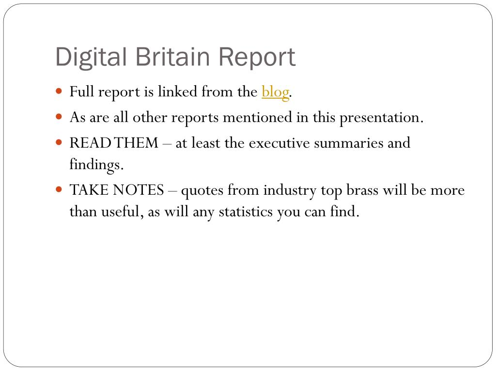 Digital Britain Report