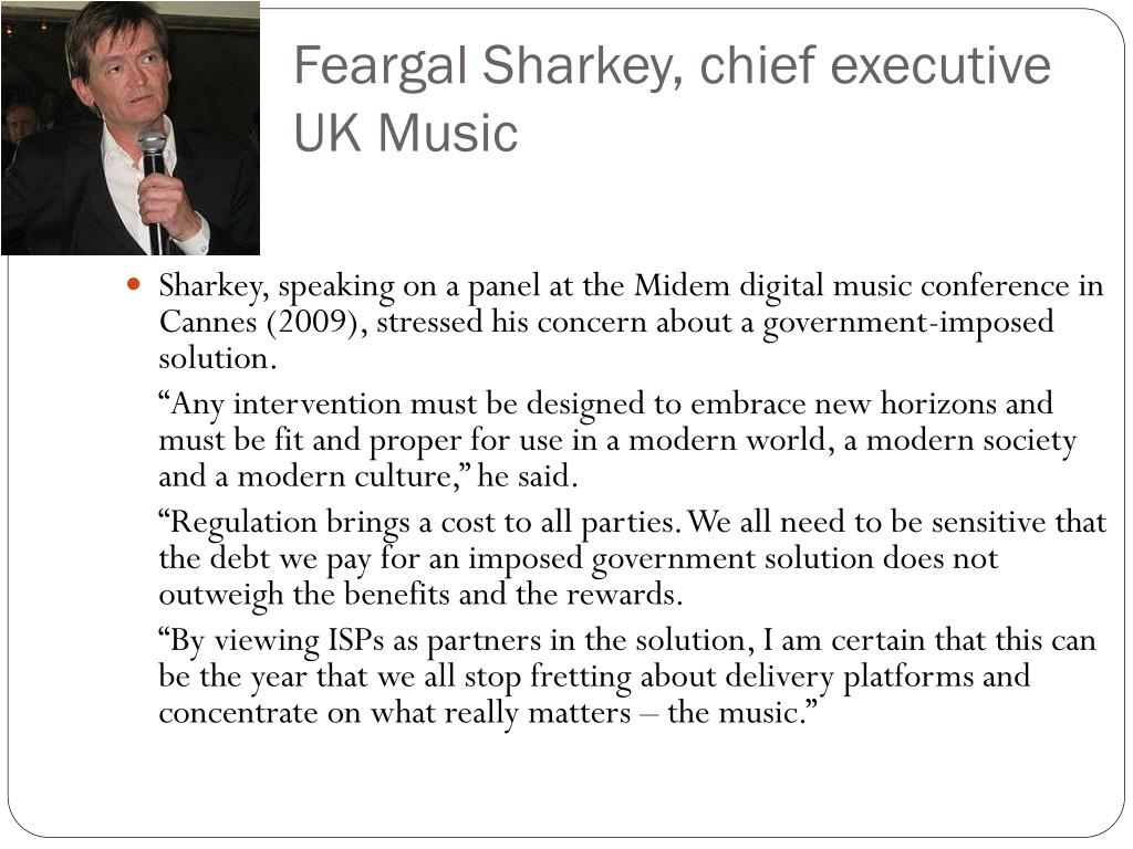 Feargal Sharkey, chief executive UK Music