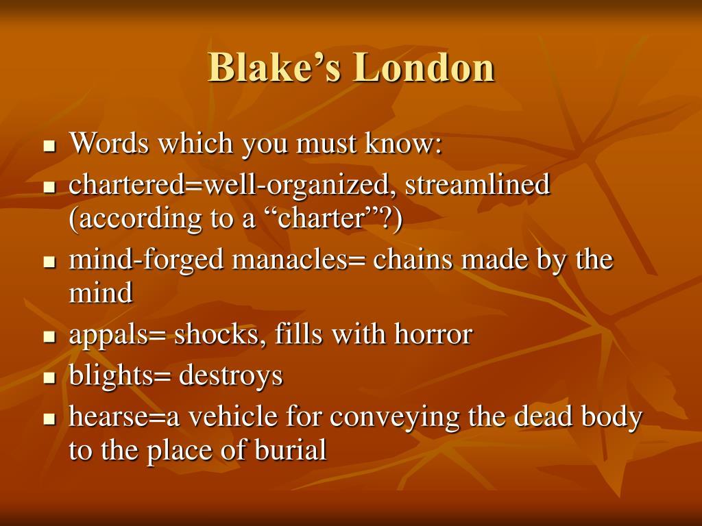 Blake's London