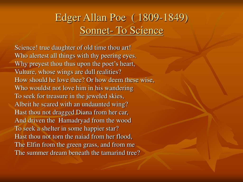Edger Allan Poe  ( 1809-1849)