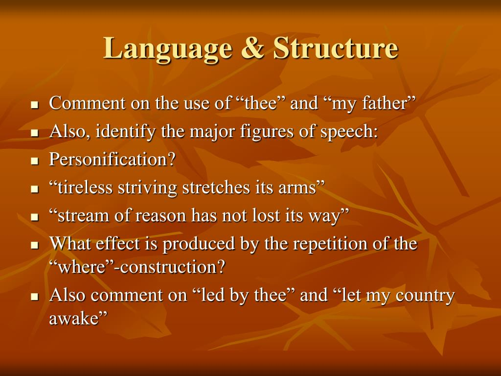 Language & Structure