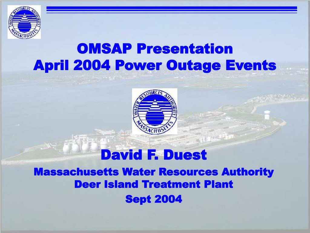 OMSAP Presentation