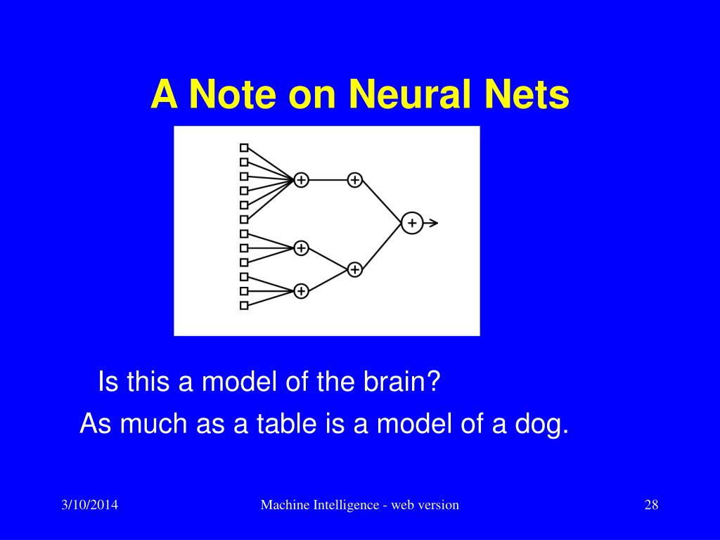 A Note on Neural Nets