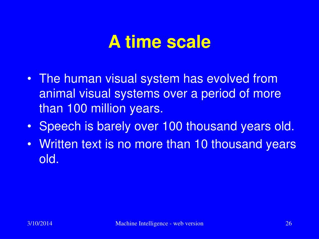 A time scale