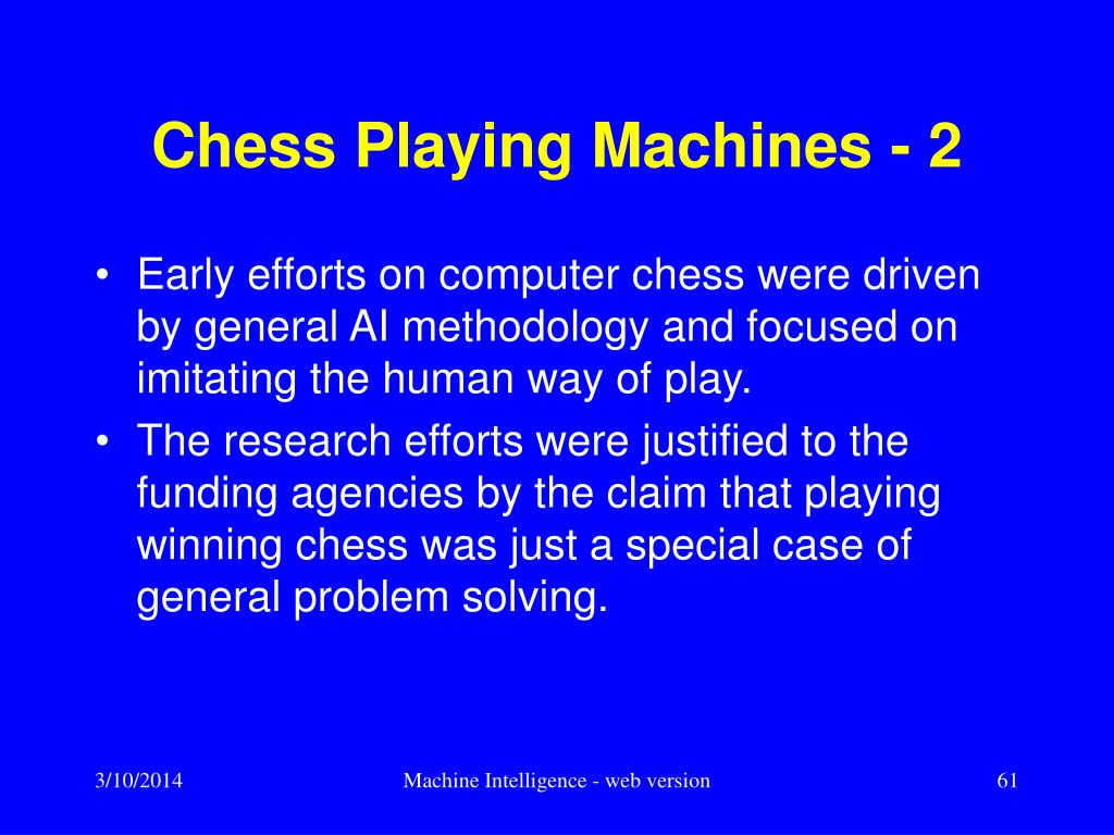 Chess Playing Machines - 2