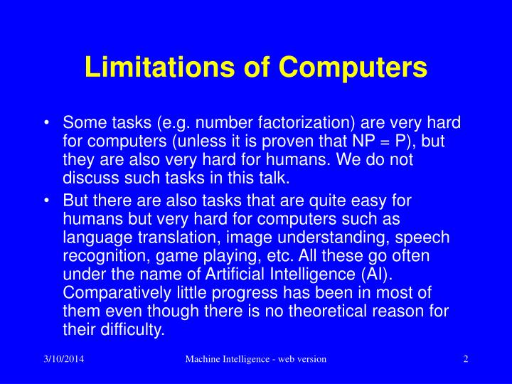 Limitations of computers l.jpg