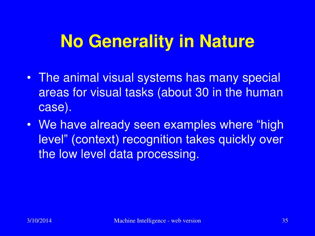 No Generality in Nature