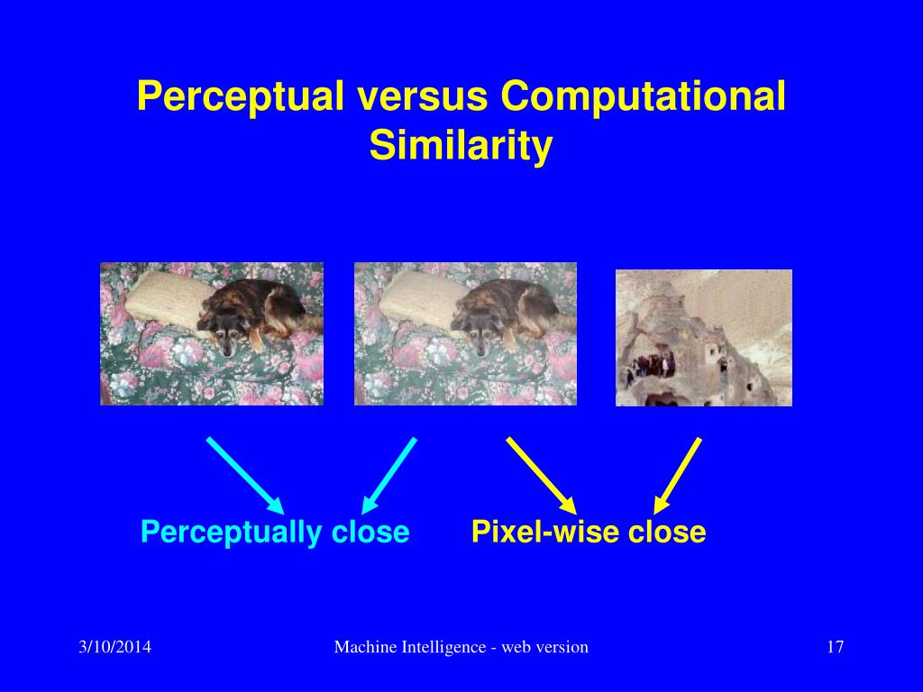Perceptual versus Computational Similarity