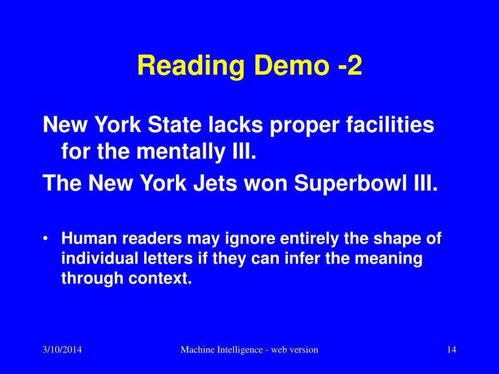 Reading Demo -2