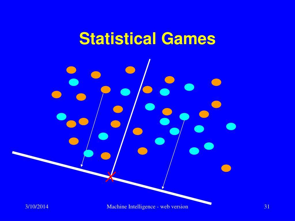 Statistical Games