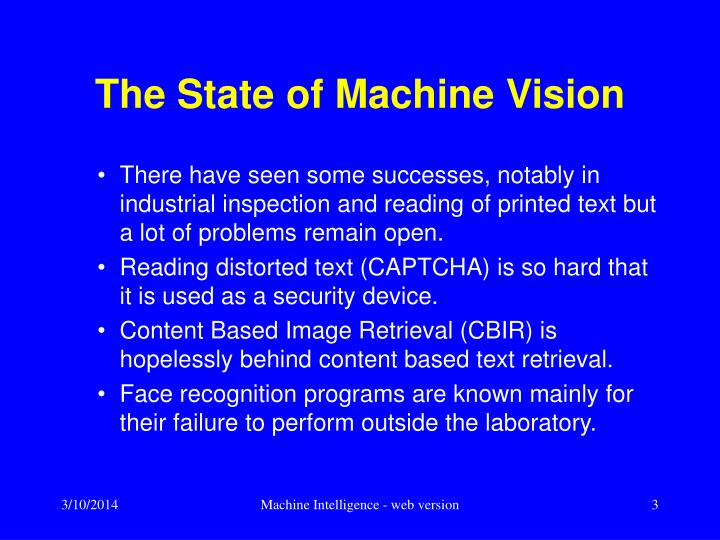 The state of machine vision l.jpg