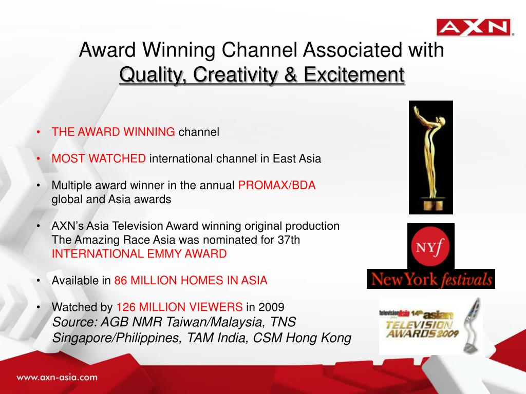 Award Winning Channel Associated with