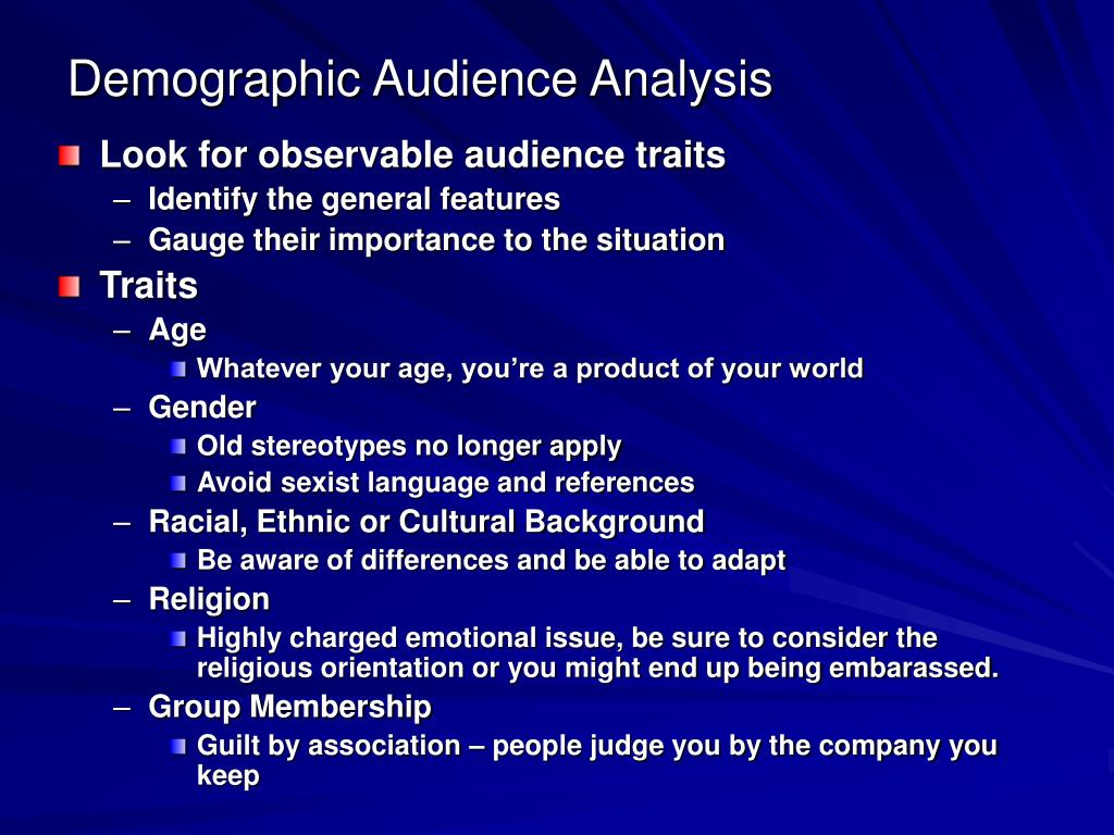 Demographic Audience Analysis