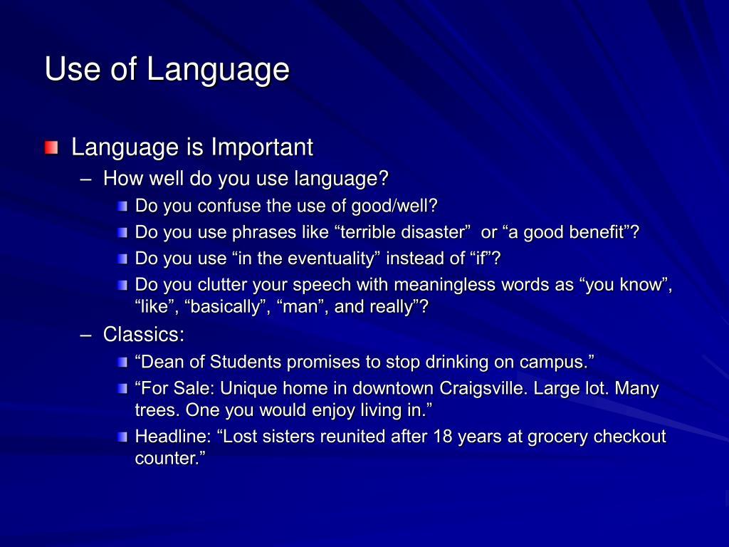 Use of Language
