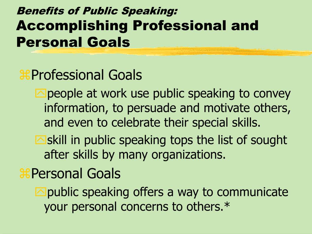 Benefits of Public Speaking: