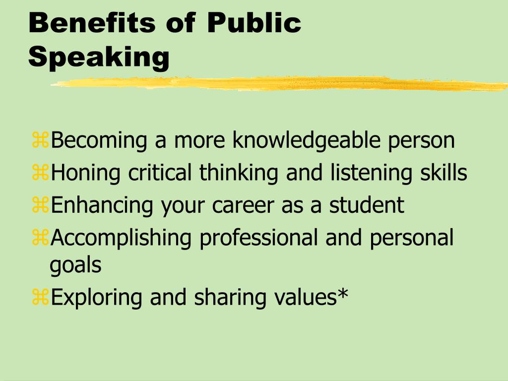 Benefits of Public Speaking