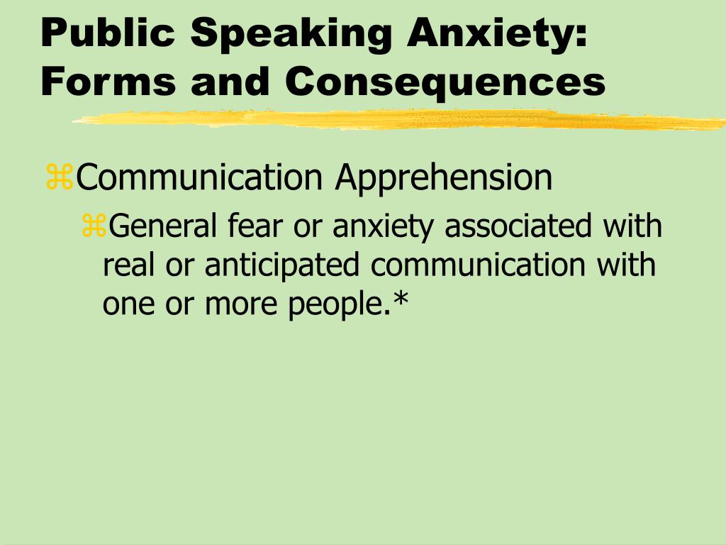 Public Speaking Anxiety: