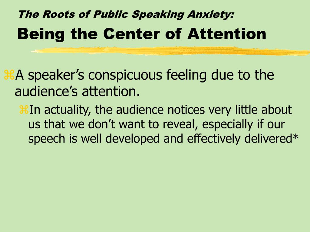The Roots of Public Speaking Anxiety:
