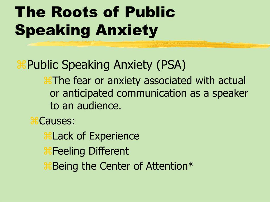 The Roots of Public Speaking Anxiety