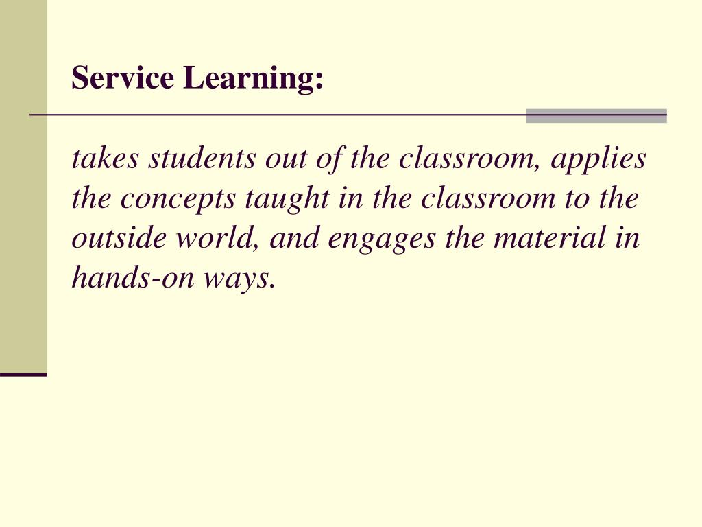 Service Learning: