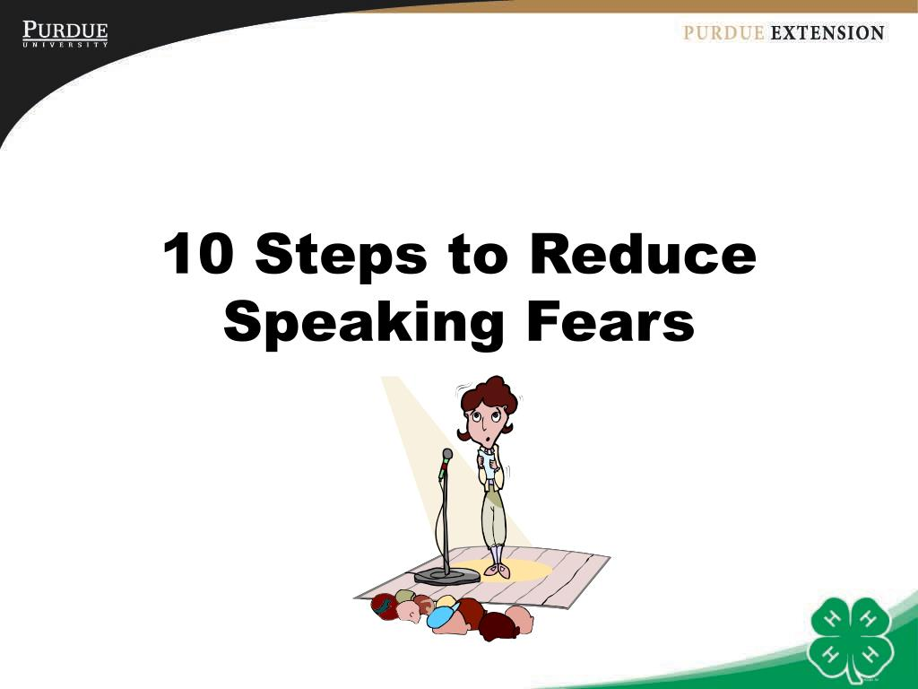 10 Steps to Reduce Speaking Fears